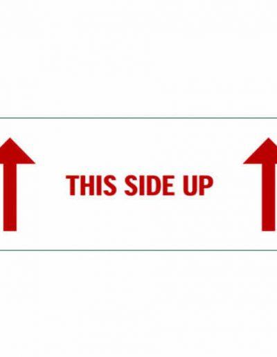 Etiket this side up
